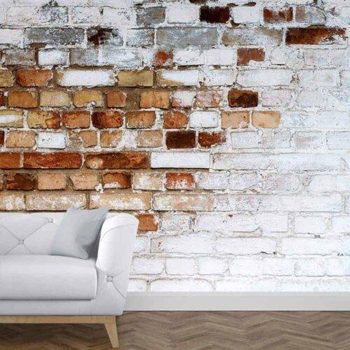 Fotobehang bakstenen muur patroon