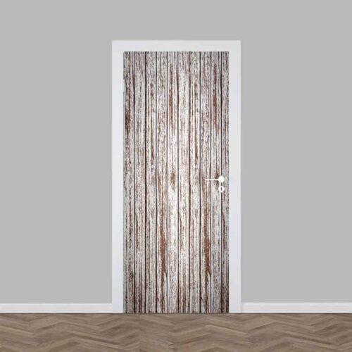 Deursticker hout patroon 3