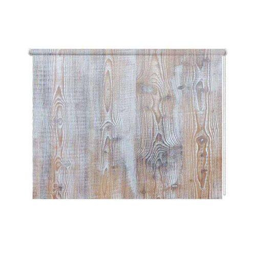 Rolgordijn white wash hout