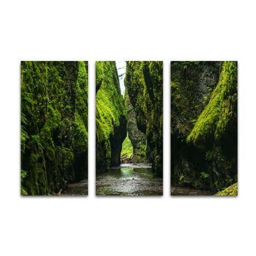 Drieluik canvas natuurlijke kloof
