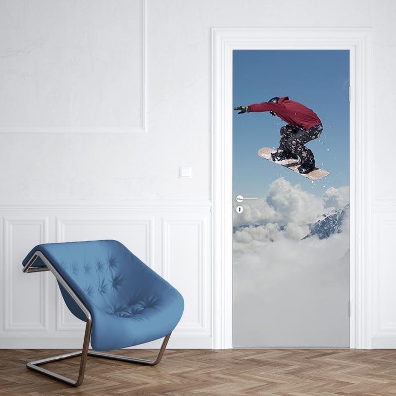 Deursticker snowboarden