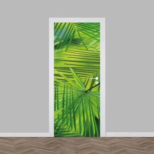 Deursticker grote palmbladeren