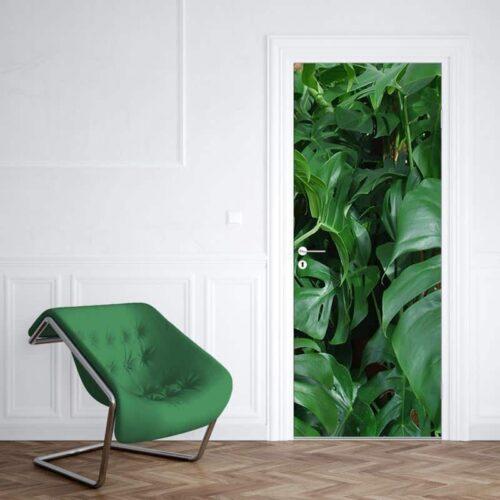Deursticker groene planten