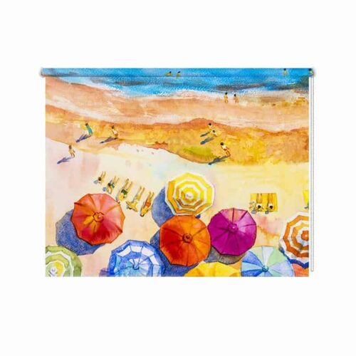 Rolgordijn zomertijd in aquarel