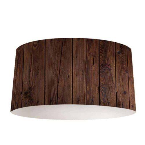 lampenkap donker hout patroon 2