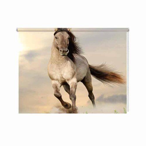 Rolgordijn rennend paard