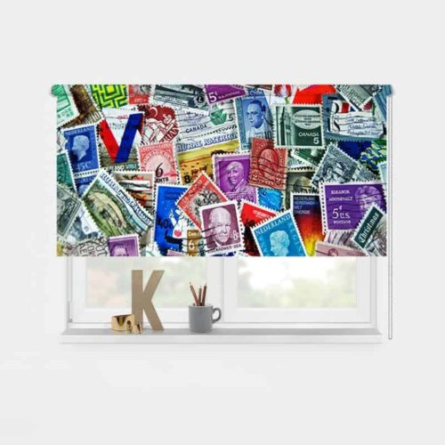 Rolgordijn postzegelverzameling