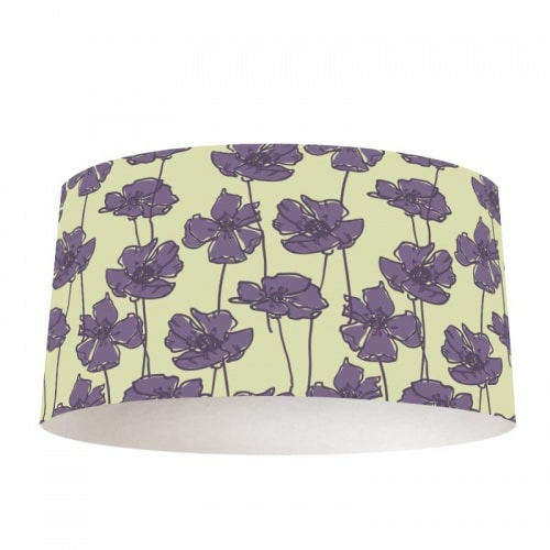 Lampenkap paarse bloemen patroon