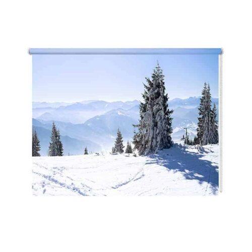 Rolgordijn sneeuw landschap