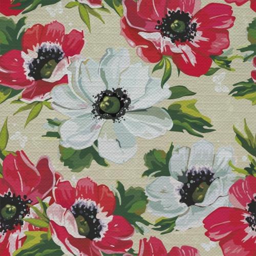 Tafelkleed Klaprozen patroon