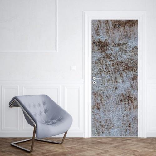 Deursticker hout structuur wit