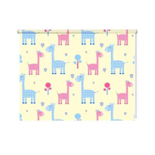 Rolgordijn girafjes patroon