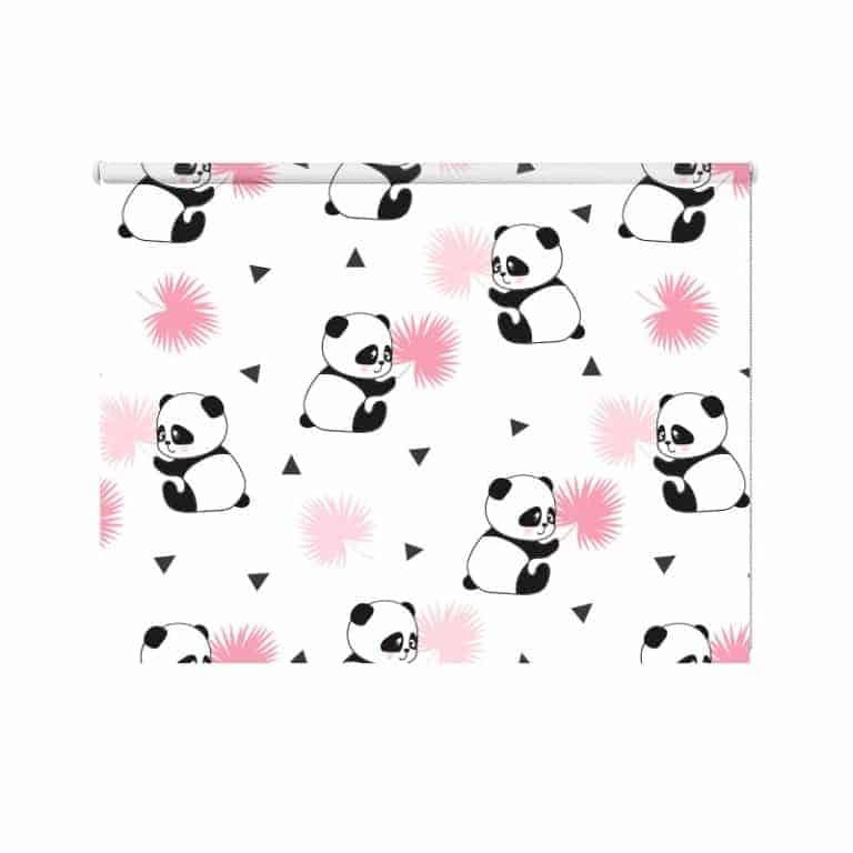 Rolgordijn pandabeertjes patroon