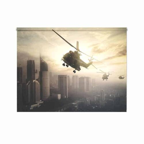 Rolgordijn Helikopter mysterie