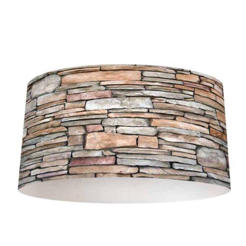 Lampenkap stenen patroon