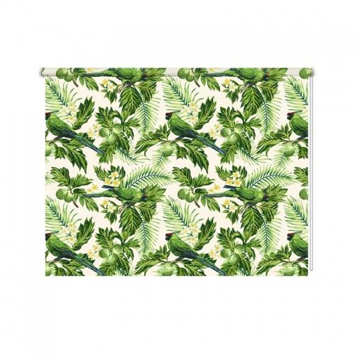 Rolgordijn Papegaaien patroon