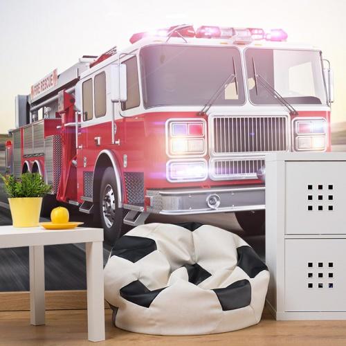 Fotobehang stoere brandweerwagen