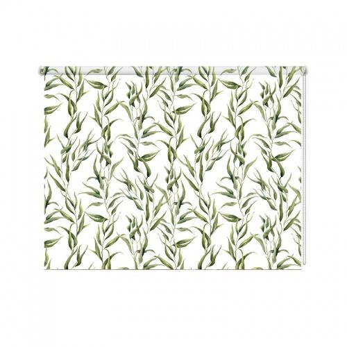 Rolgordijn bladeren patroon 7