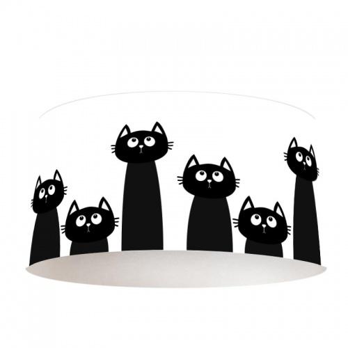 Lampenkap alle katten op een rij
