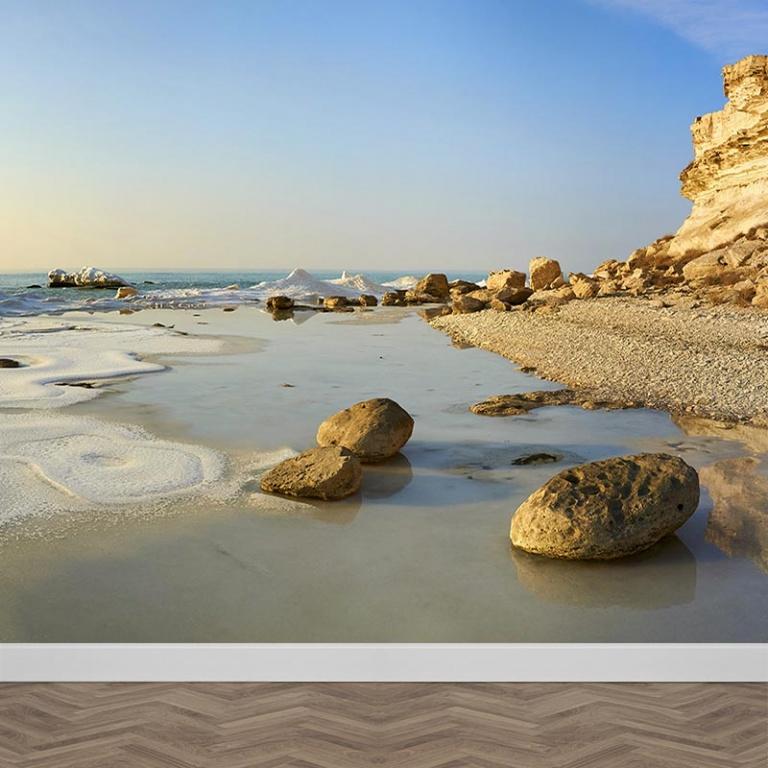 Fotobehang rotsachtige kust