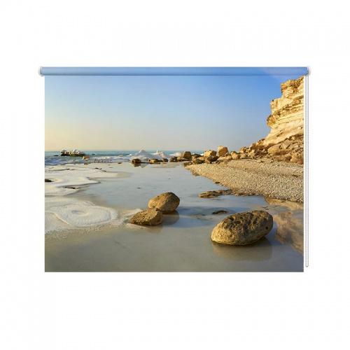 Rolgordijn Rotsachtige kust