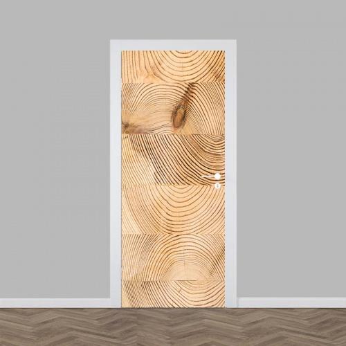 Deursticker houtnerf 2
