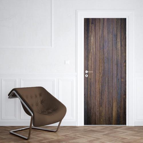 Deursticker hout patroon antiek