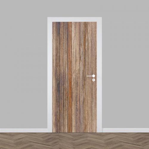 Deursticker hout patroon antiek 2