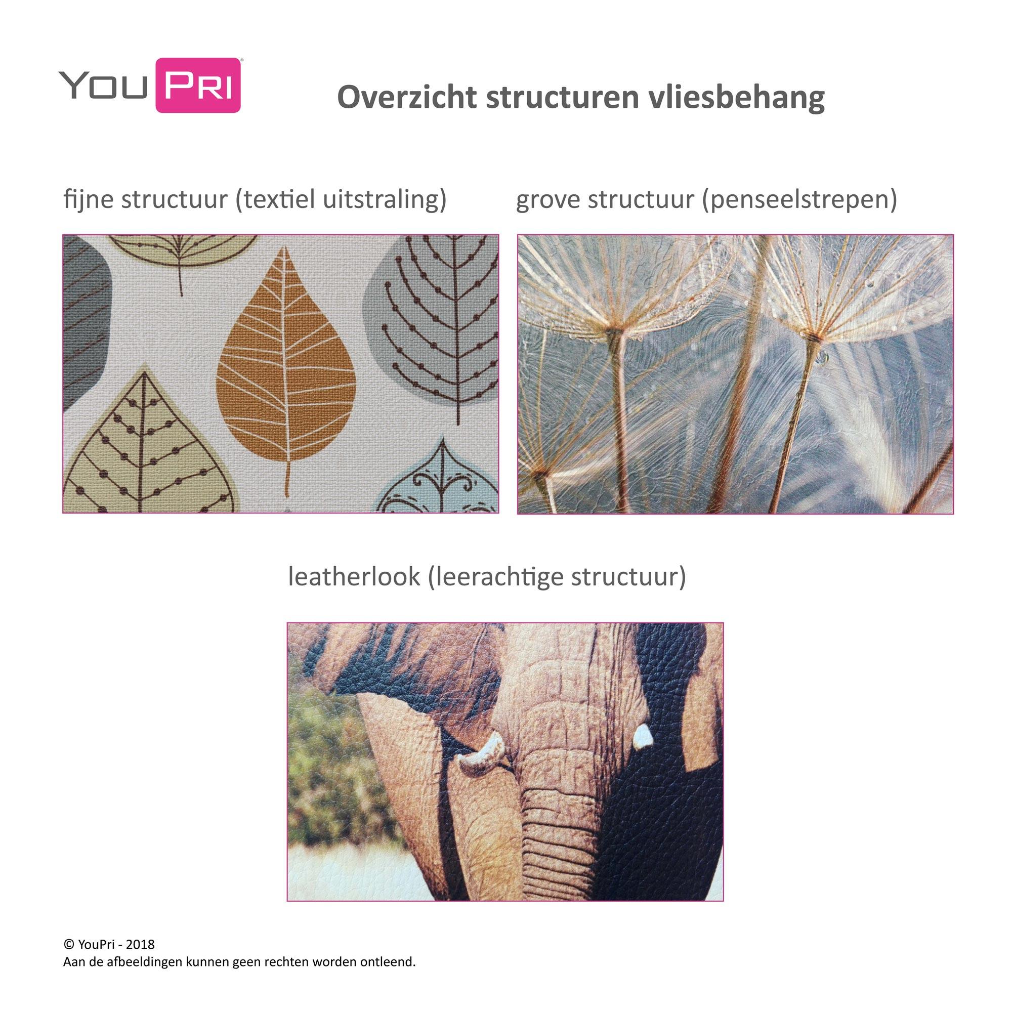 overzicht structuren vliesbehang