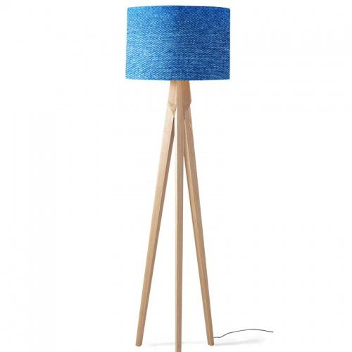Lampenkap Blauwe stof