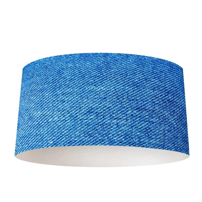 Latest lampenkap blauwe stof with kwantum lampenkap for Industriele schemerlamp