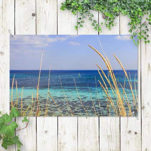 Tuinposter Kijk de zee