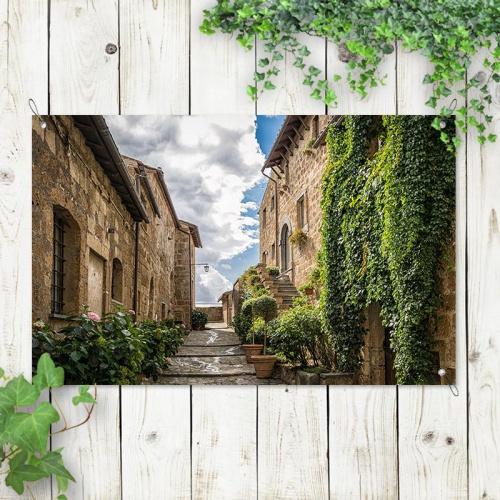 Tuinposter Pittoresk straatje