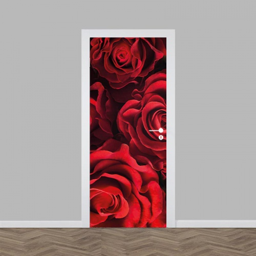 Deursticker Rode rozen