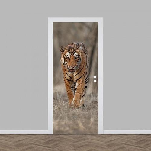 Deursticker Gevaarlijke tijger