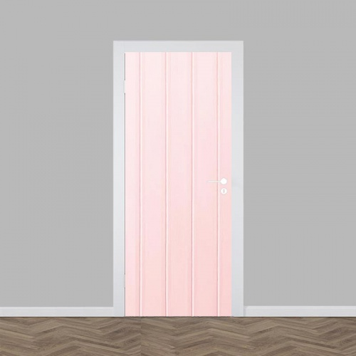 Deursticker Roze Planken