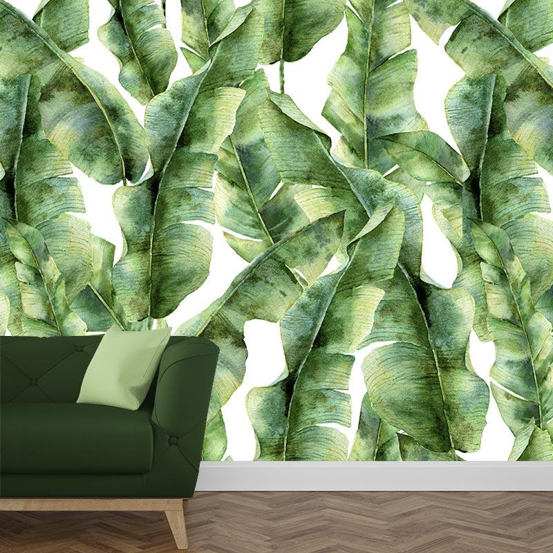 Fotobehang Tropische bladeren patroon 5