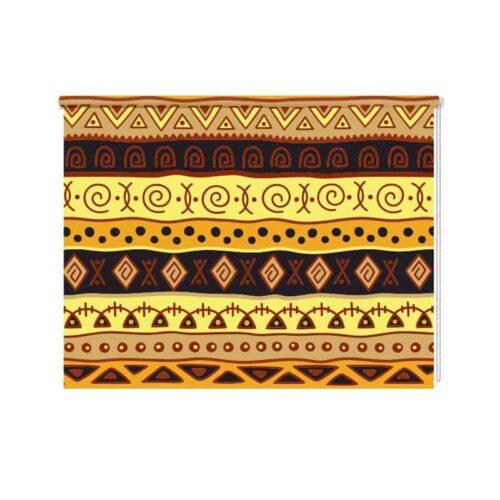 Rolgordijn Afrikaans patroon