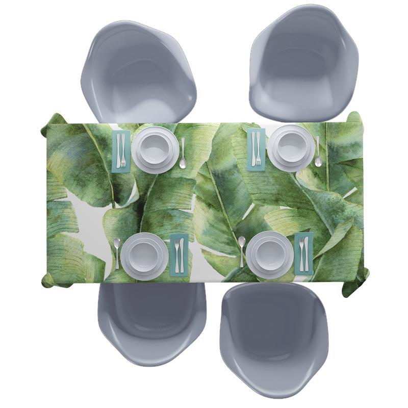 Top Tafelkleed Tropische bladeren patroon 5. Aan tafel! Op maat voor YK92