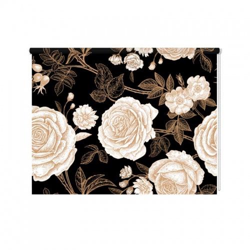 Rolgordijn Vintage rozen patroon
