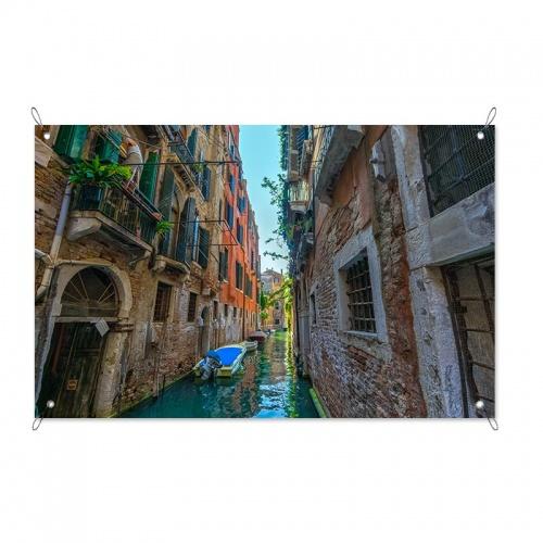 Tuinposter Italiaanse waterweg