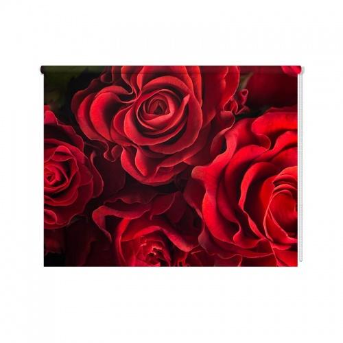 Rolgordijn Rode rozen