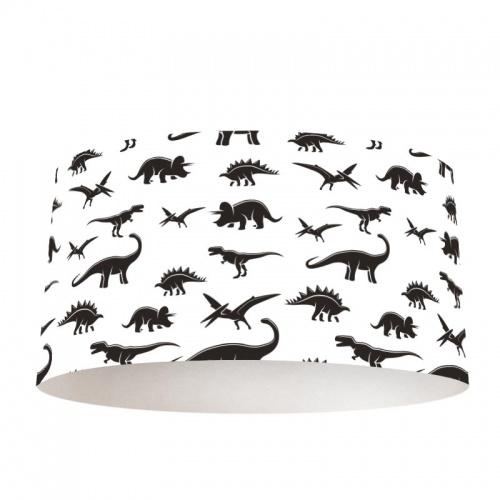 Lampenkap Dinosaurus patroon zwartwit