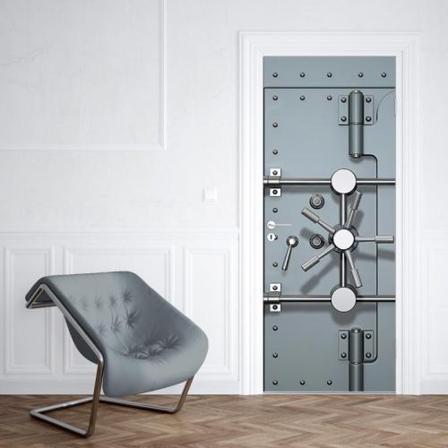deursticker Beveiligde deur