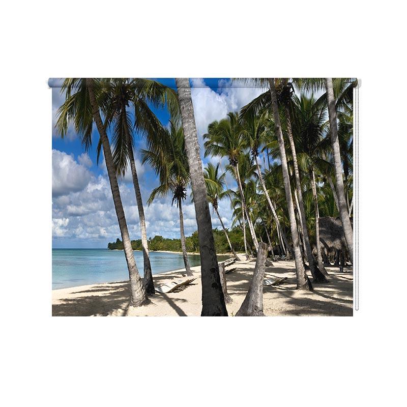 Rolgordijn Palmbomen op het strand