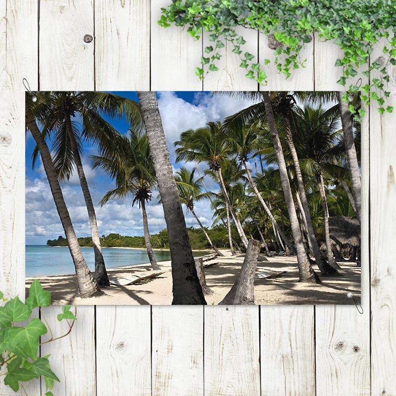 tuinposter Palmbomen op het strand