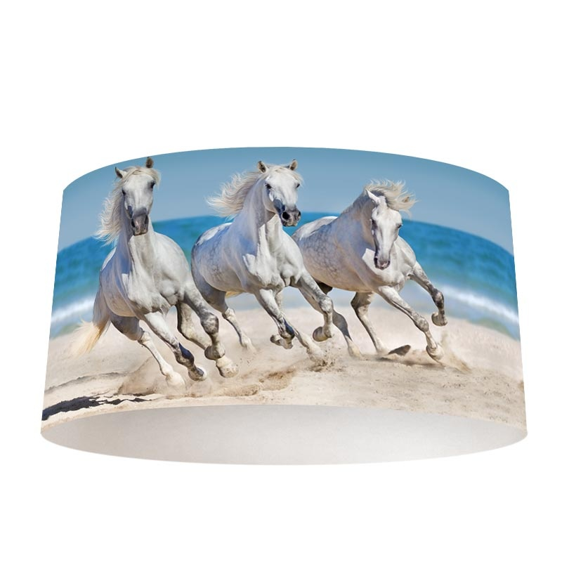 Lampenkap Paarden op het strand