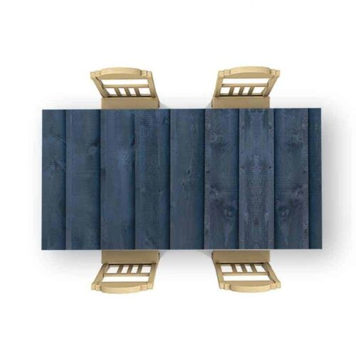 Tafelsticker Hout patroon donkerblauw staand
