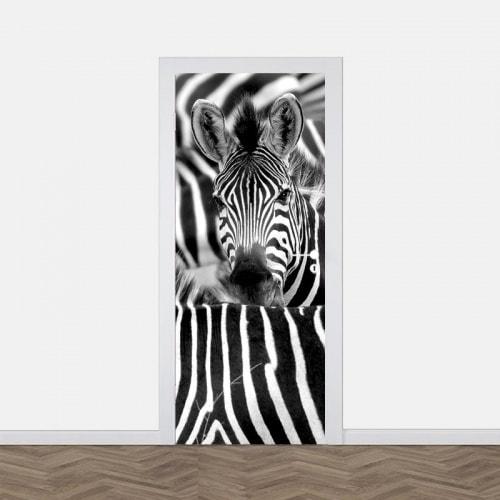 Deursticker Zebra