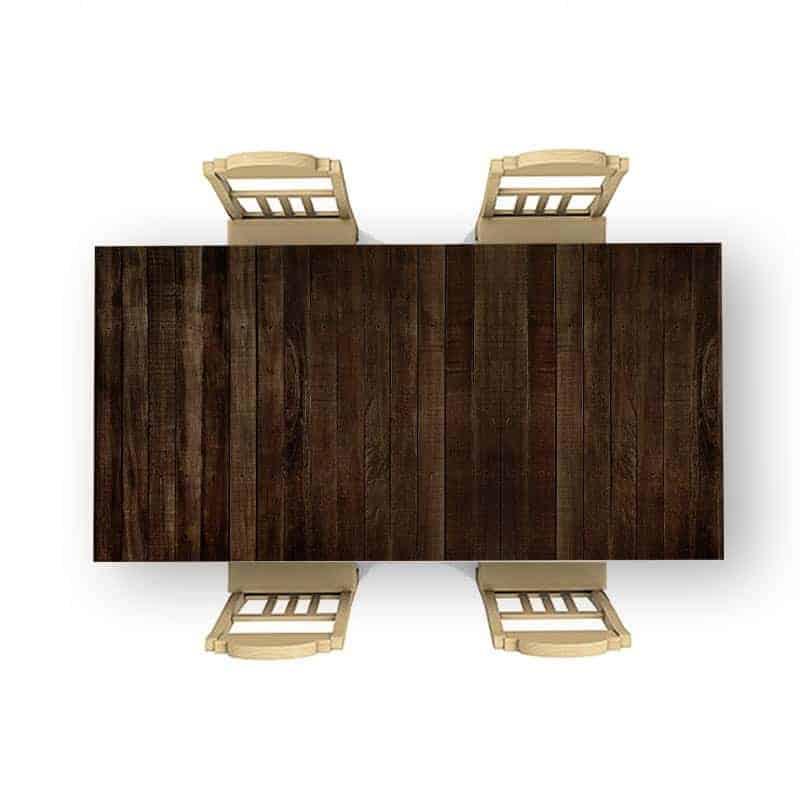 Welp Tafelsticker Donker eiken hout. Gun de tafel een '2e leven'. YouPri.nl AD-74
